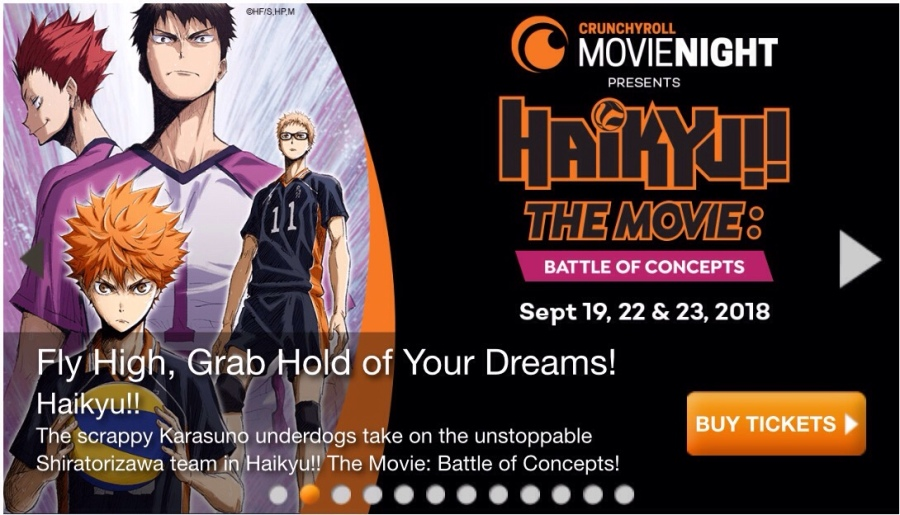 HAIKYUU!! THE MOVIE: BATTLE OF CONCEPTS! Playing(hopefully) at a movie theater near you!!!(I hope)